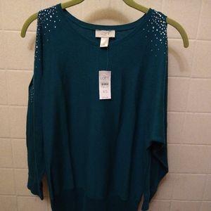 Ann Taylor loft cold shoulder sweater size xs nwt